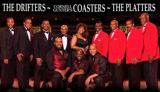 The Drifters, Cornell Gunter's Coasters and The Platters are bringing their classic songs Sunday at the Montgomery Performing Arts Centre.