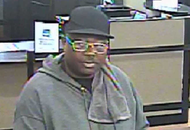 Police are seeking information about a man they suspect robbed a bank on Zelda Road.