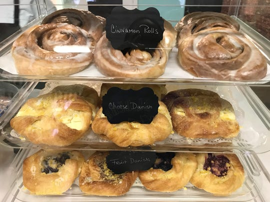 Cinnamon rolls and danishes are made in-house at Nonie's Bakery in Murfreesboro.