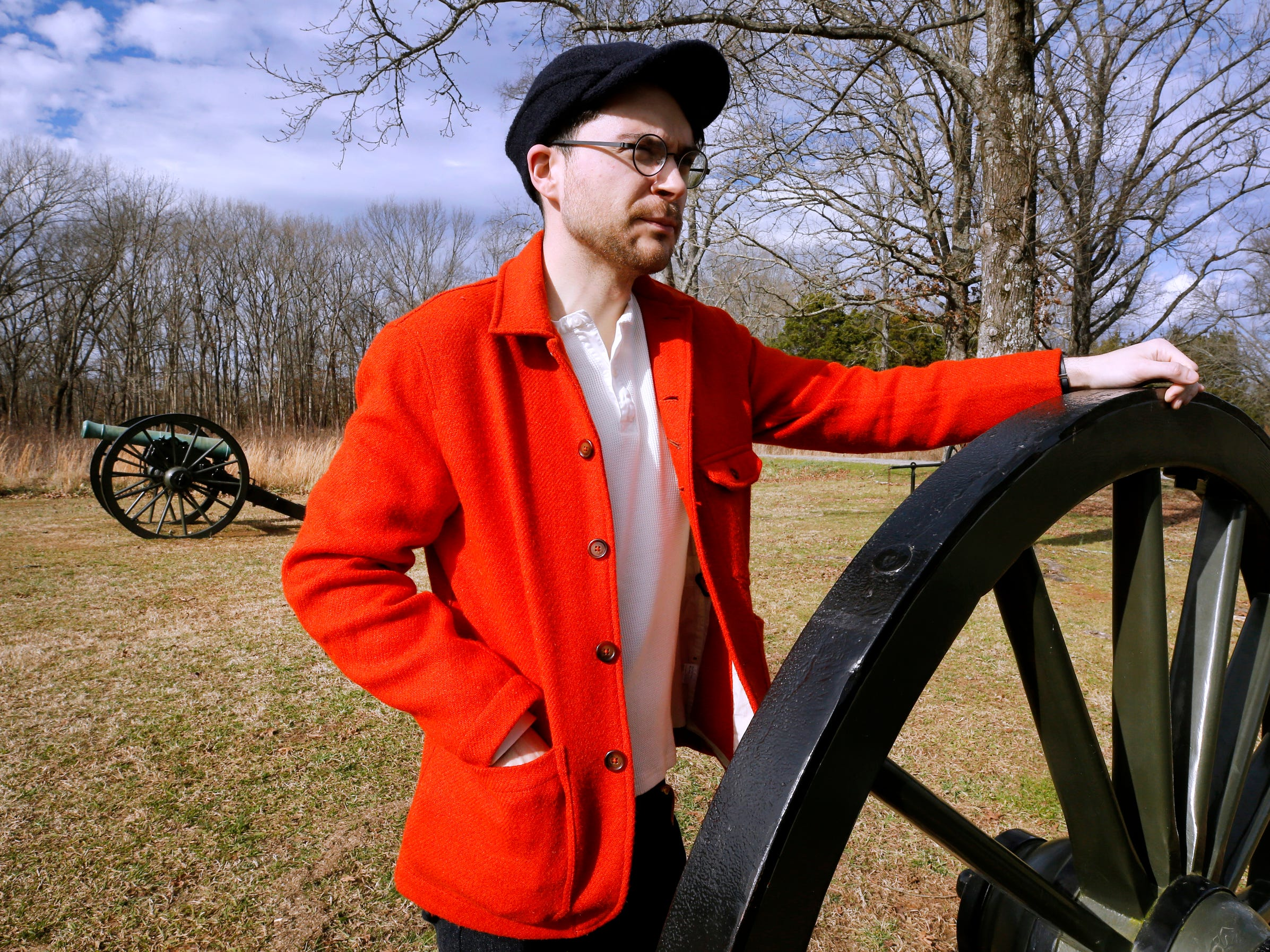 William Schlaack visits the Stones River National Battlefield, despite being closed on Thursday Jan. 7, 2019, after the government shutdown on Dec. 22, 2018.