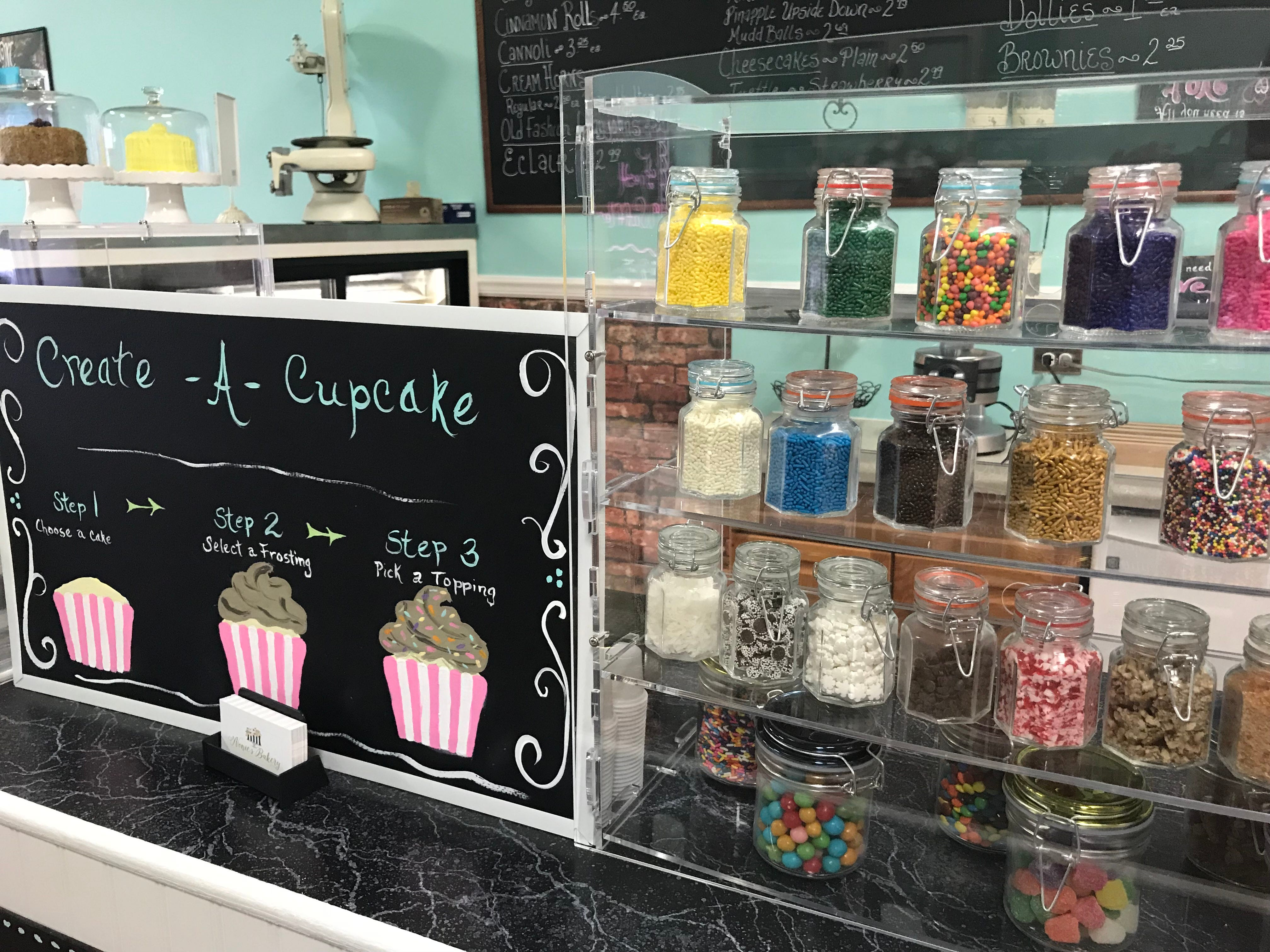 Create your own cupcake at Nonie's Bakery in Murfreesboro.