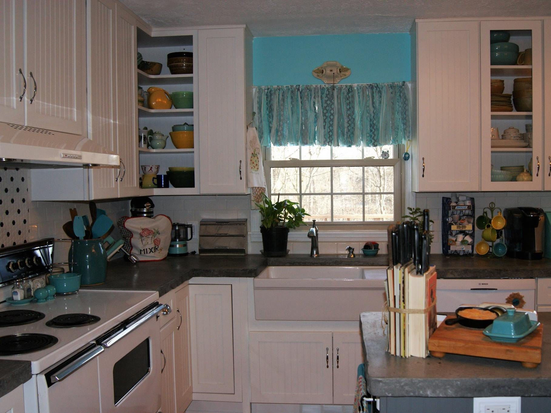 Kathleen Walter loves her newly-renovated retro 1950s kitchen.