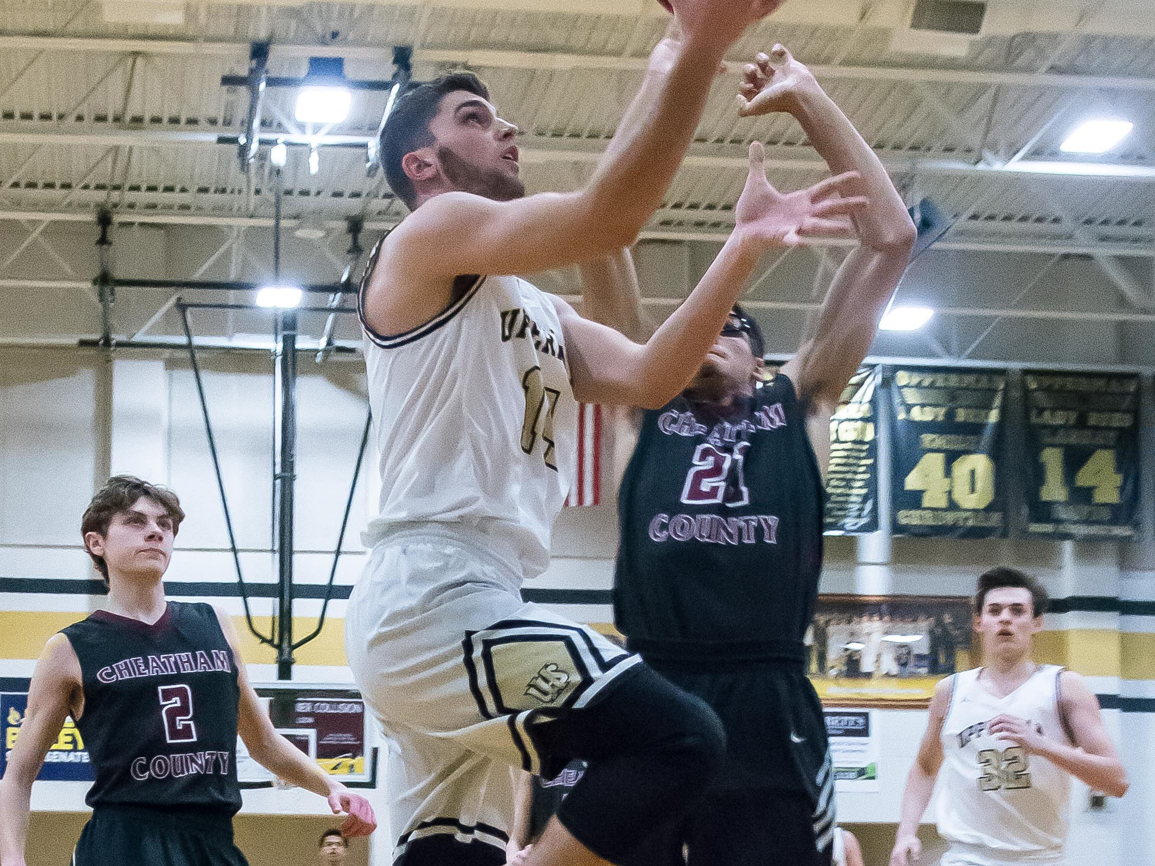 Upperman's Jaydon Kanipe drives to the basket.