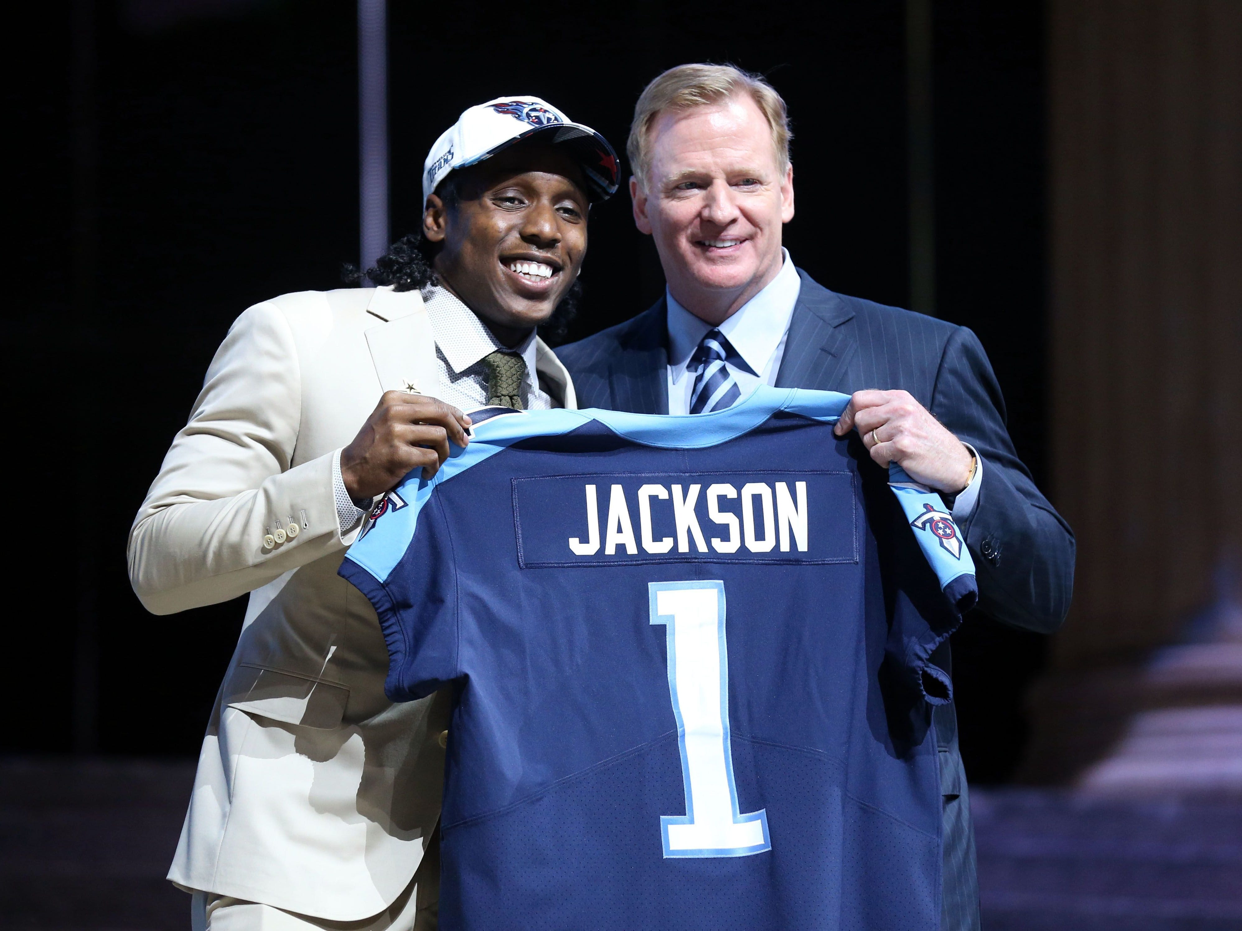 2017: Adoree' Jackson (No. 18 overall) Defensive Back, USC  Jackson played both sides of the ball in college but has been a really good cover corner in two seasons with the Titans.
