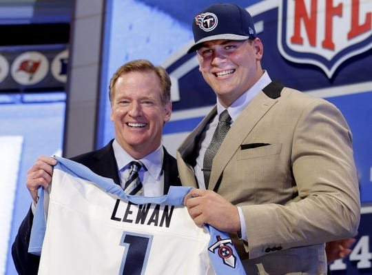 2014: Taylor Lewan (No. 11 overall) Offensive Lineman, Michigan  Lewan has become an important offensive leader on the Titans and a consistent presence in the Pro Bowl the past three seasons. And he will be with the Titans for the next four years after signing an extension during training camp in July.