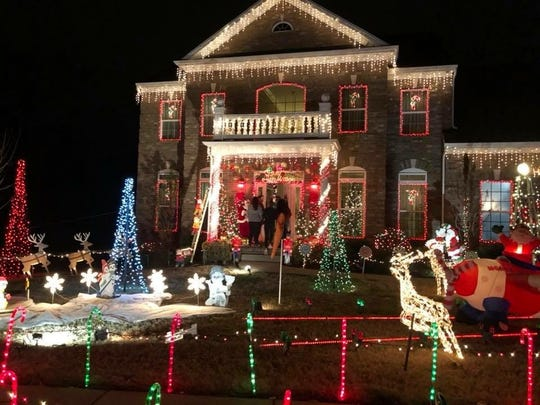 Gallatin High School FCCLA's second place winner for the Christmas light contest was Glen and Susan Hezmalhalch at 404 Fannis Circle.