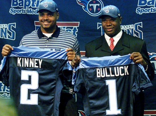 2000: Keith Bulluck (No. 16 overall) Linebacker, Syracuse  Bulluck is one of the best first round selections in Titans and Oilers history.  Three-time All-Pro, five straight seasons of at least 125 total tackles and excellent leadership are only some of the things Bulluck brought to the franchise in his 10 seasons.