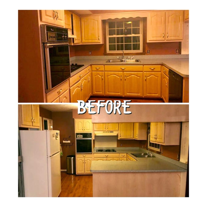 The 'before' view of Kathleen Walter's kitchen.