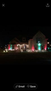 Gallatin High School FCCLA's third place winner for the Christmas light contest was Bryan Koch at 1031 Blue Jay Way.