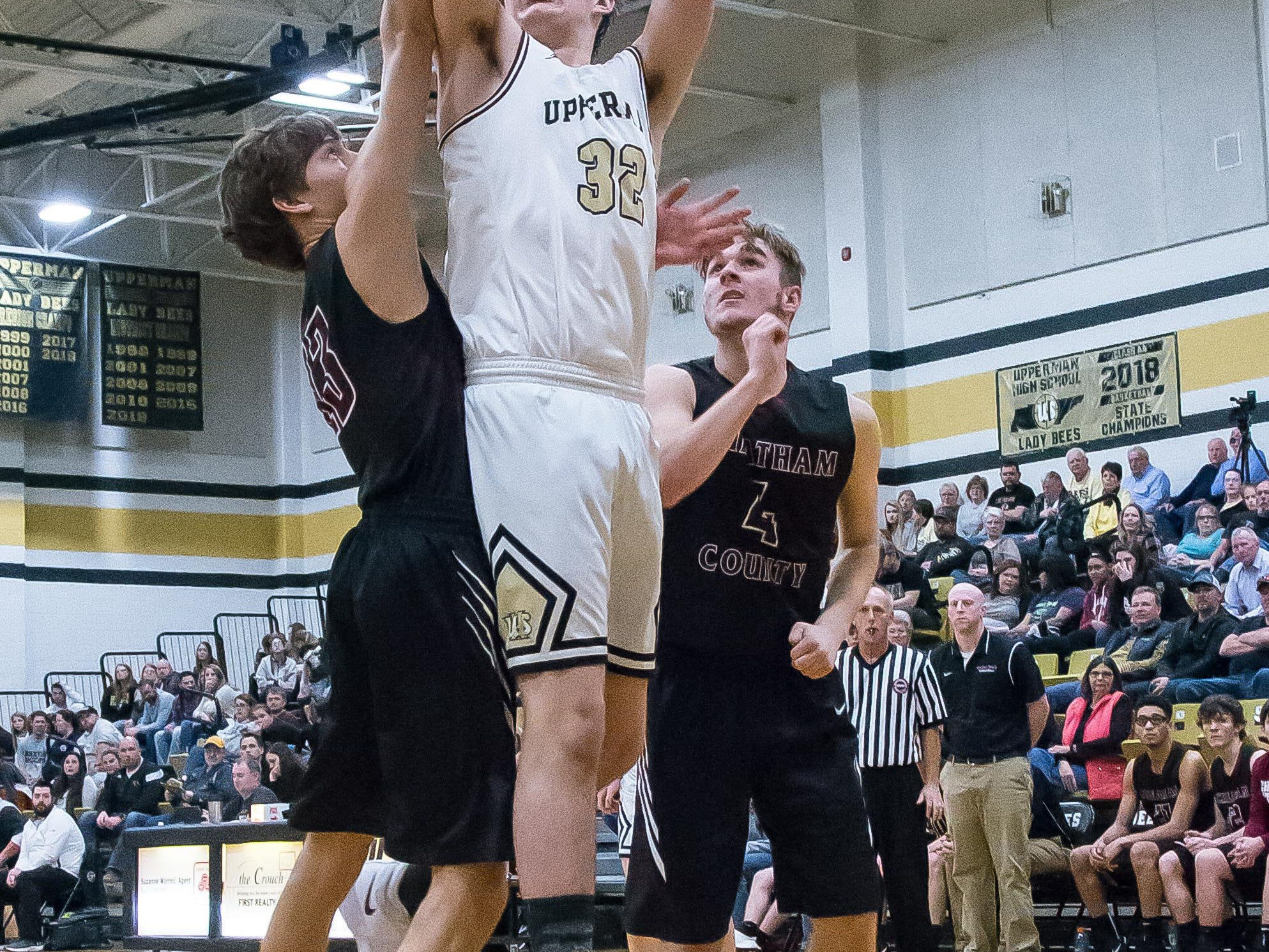 Another look at Alex Rush putting up two for Upperman.