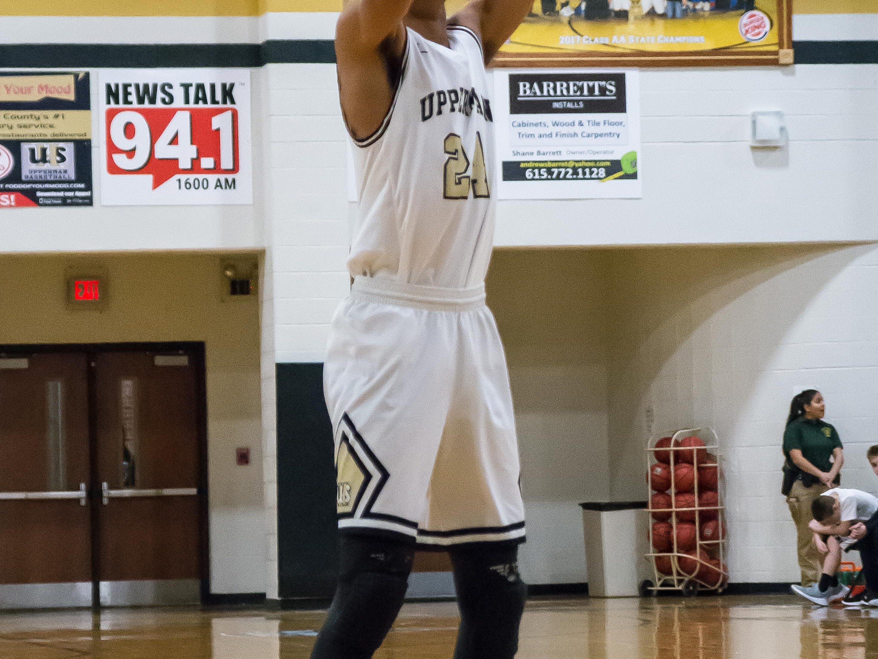 Isaiah Allen had a good night for the Upperman Bees.