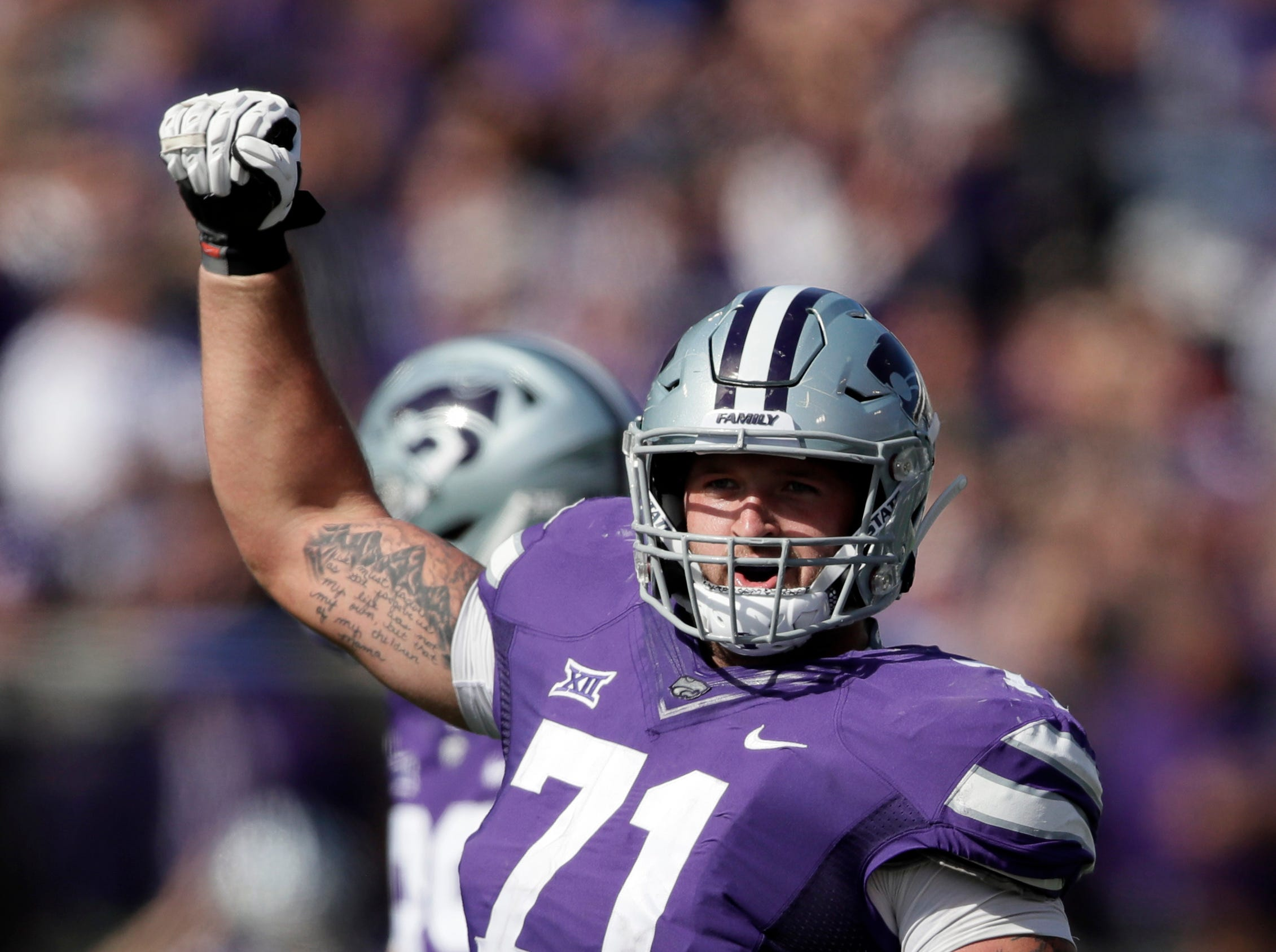 27. Oakland Raiders (from Dallas) — Dalton Risner, OL, Kansas State