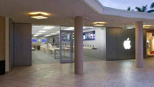 The original Apple store at Waterside Shops in Naples will have a new look and significantly more space when it reopens in fall 2019.