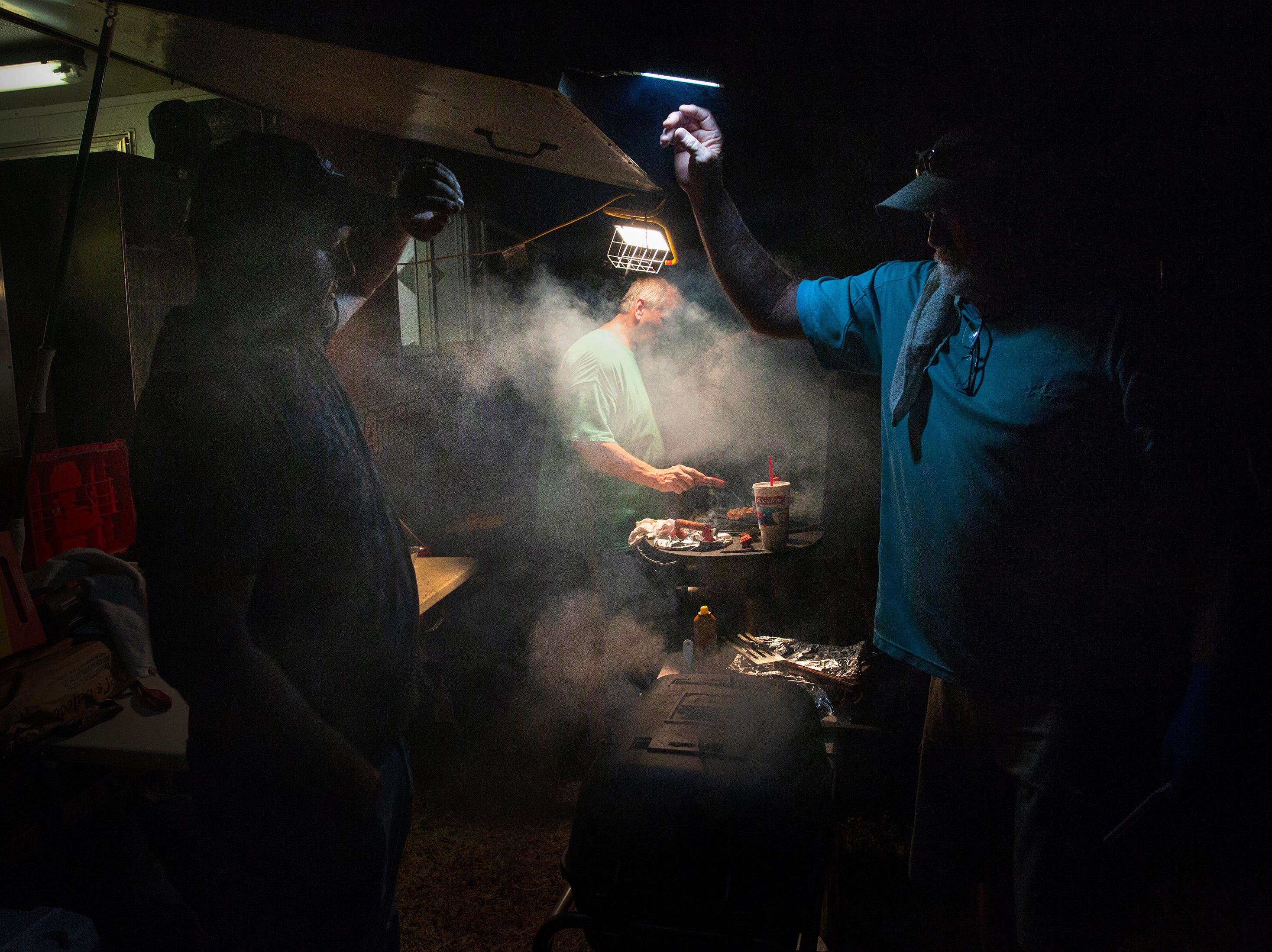 Big Papa's Country Kitchen owner Dana Hillis works on a rib-eye steak during the 7th Annual Big Swamp Smoke Off & Craft Beer Festival's steak competition on Friday, Jan. 4, 2019, at the Collier County Fairgrounds.