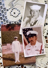 Photos of Mike Cagney during his time with the Navy.