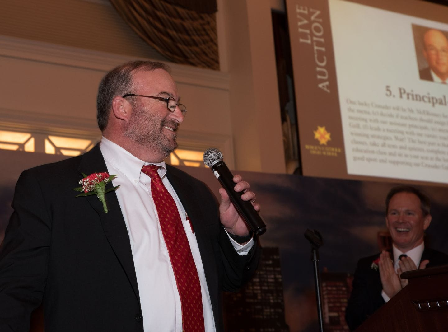 Timothy McElhinney, Principal. Bergen Catholic High School celebrates their 2018 Crusader Gala at The Venetian in Garfield. 11/16/2018