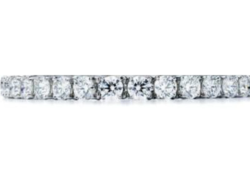 Bracelet in platinum with diamonds ($145,000) — Tiffany & Co. provided Lady Gaga with over 100 carats of diamonds for the 76th annual Golden Globe Awards