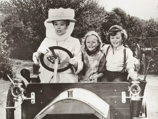 "Adrian Hall as a boy With ""Truly Scrumptious"" in ""Chitty Chitty Bang Bang."" Hall will appear at the Chocolate Expo."