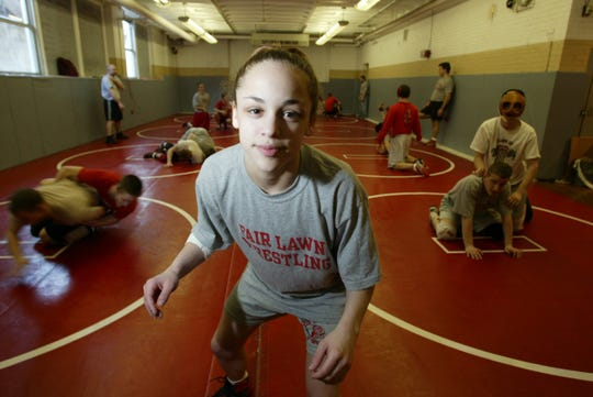 Kim Salma wrestled for Fair Lawn in 2003.
