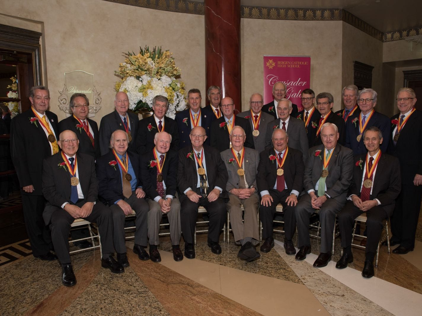 Bergen Catholic High School Class of 1964, honorees. Bergen Catholic High School celebrates their 2018 Crusader Gala at The Venetian in Garfield. 11/16/2018
