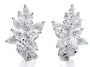 Earrings in platinum with diamonds ($115,000) — Tiffany & Co. provided Lady Gaga with over 100 carats of diamonds for the 76th annual Golden Globe Awards