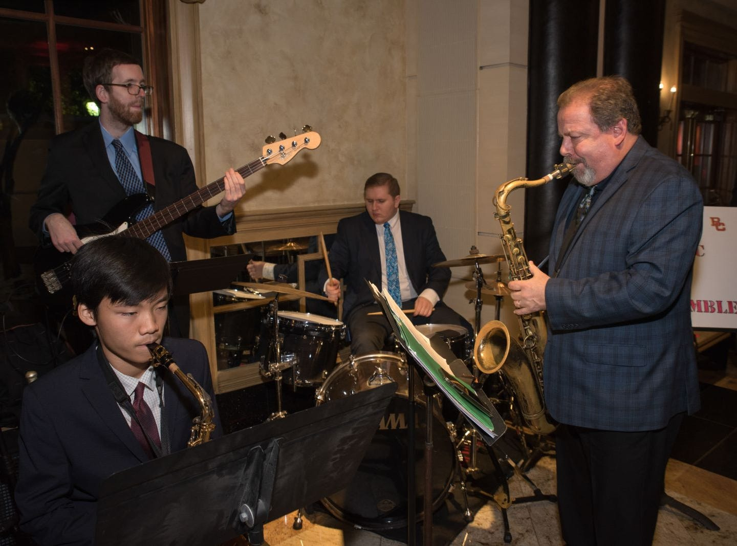 Peter Furlan and The Bergen Catholic Honors Jazz Ensemble. Bergen Catholic High School celebrates their 2018 Crusader Gala at The Venetian in Garfield. 11/16/2018