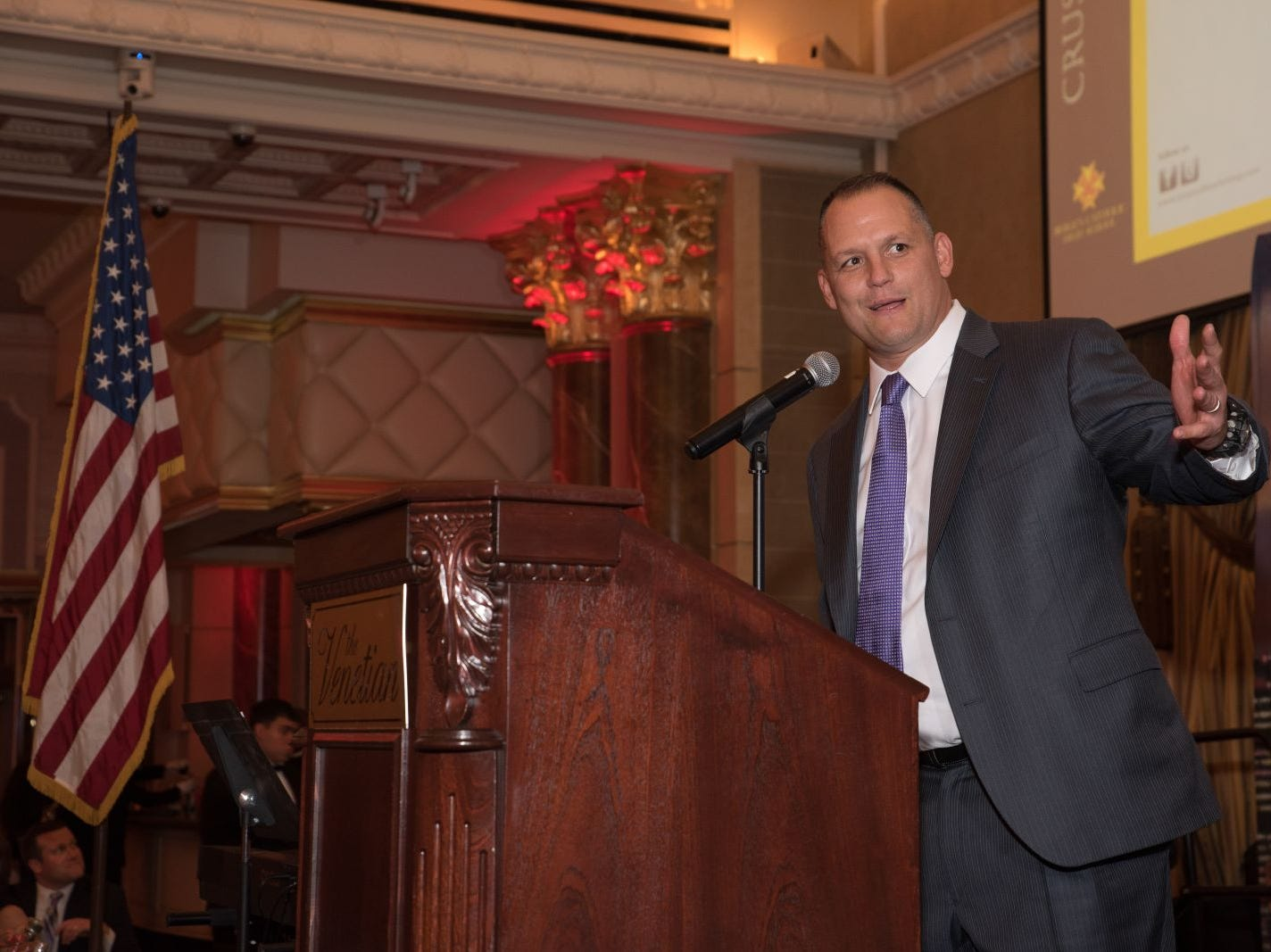 Head Football Coach Vito Campanile. Bergen Catholic High School celebrates their 2018 Crusader Gala at The Venetian in Garfield. 11/16/2018