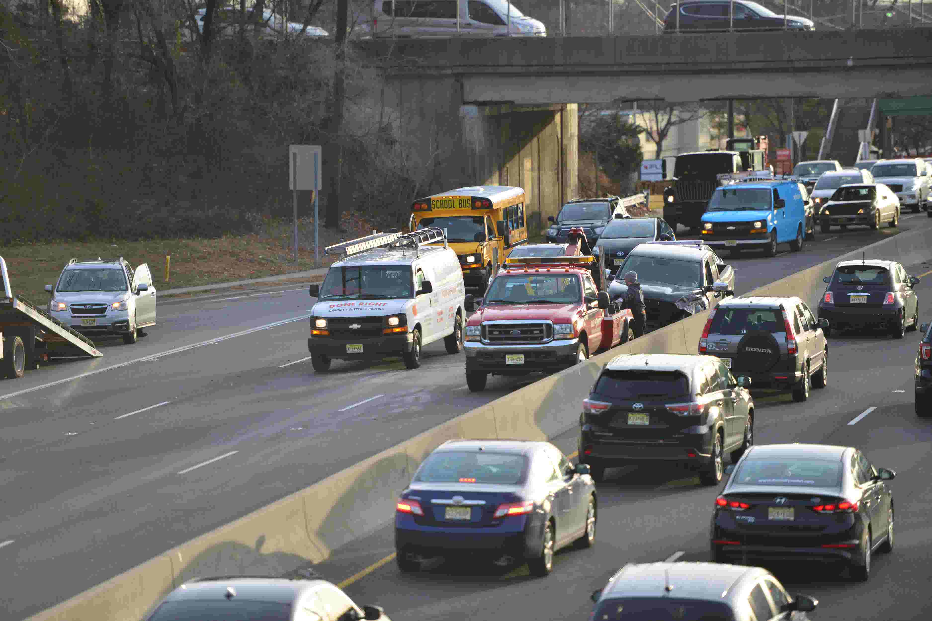 Raw video: Car accident slows down traffic in both directions on Route 4 in  Paramus