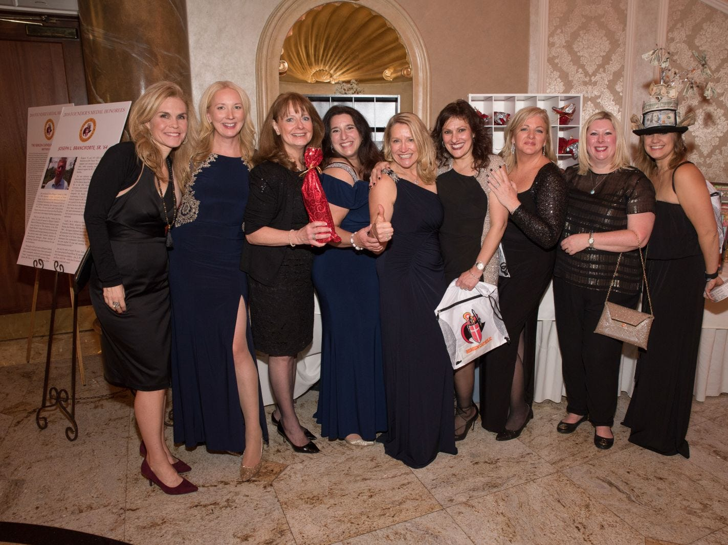 The Bergen Catholic Gala Mom Volunteers. Bergen Catholic High School celebrates their 2018 Crusader Gala at The Venetian in Garfield. 11/16/2018