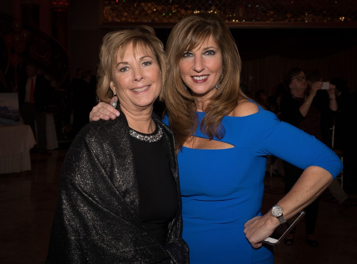 Marge Quinn and Debbie Regis (co chair). Bergen Catholic High School celebrates their 2018 Crusader Gala at The Venetian in Garfield. 11/16/2018