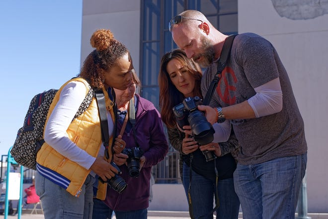 Participants in the 2018 Doña Ana Photography Club Boot Camp receive instruction on taking the best photos.