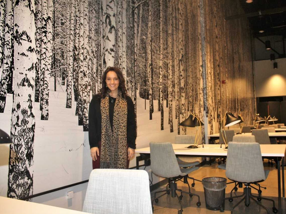 Amity manager Gabrielle Guthrie helped design the facility's eye-catching setup.