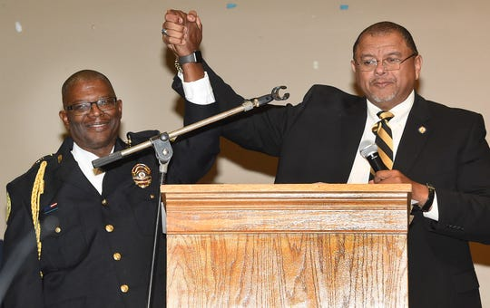 Opelousas Police Chief Martin McClendon and Mayor Julius Alsandor were sworn in Sunday afternoon during an official ceremony that was held before a standing room only crowd at the Opelousas Civic Center.