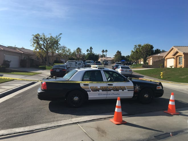 La Quinta homicide detectives investigate the deaths of two people in the 79-700 block of Independence Way in the Monticello neighborhood.