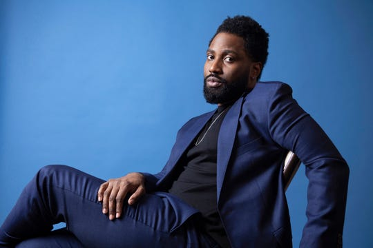 "In this Nov. 14, 2018 photo, actor John David Washington, star of ""BlacKkKlansman,"" poses for a portrait at the Four Seasons Hotel in Los Angeles. Washington has been named as a Breakthrough Entertainer of the Year by the Associated Press."
