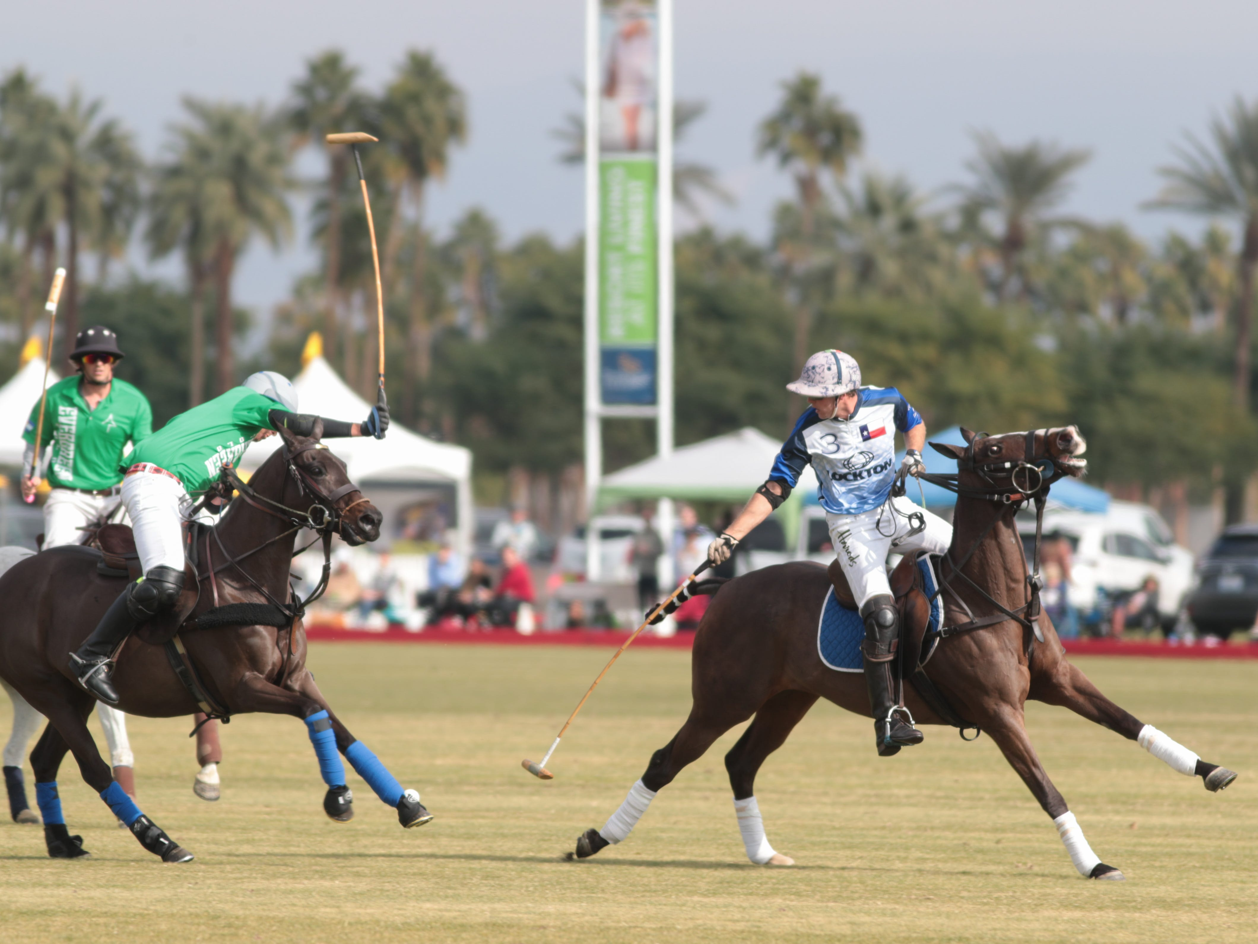 at opening day at the Empire Polo Club, Indio, Calif., Sunday, January 6, 2018.