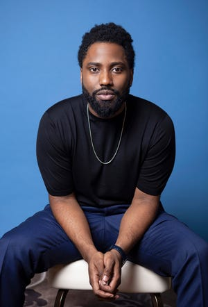 """In this Nov. 14, 2018 photo, actor John David Washington, star of """"BlacKkKlansman,"""" poses for a portrait at the Four Seasons Hotel in Los Angeles. Washington has been named as a Breakthrough Entertainer of the Year by the Associated Press."""