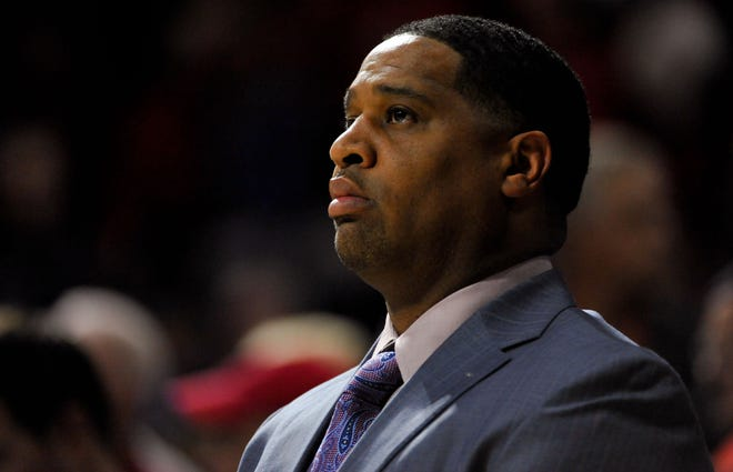 Nov 19, 2014; Tucson, AZ, USA; Arizona Wildcats assistant coach Book Richardson watches from the bench during the second half against the UC Irvine Anteaters at McKale Center. The Wildcats won 71-54. Mandatory Credit: Casey Sapio-USA TODAY Sports