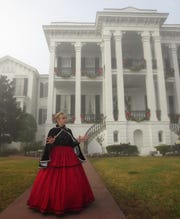 On a foggy morning in Louisiana, a guide discusses the history of the Nottoway Plantation, the largest remaining antebellum mansion in the South.