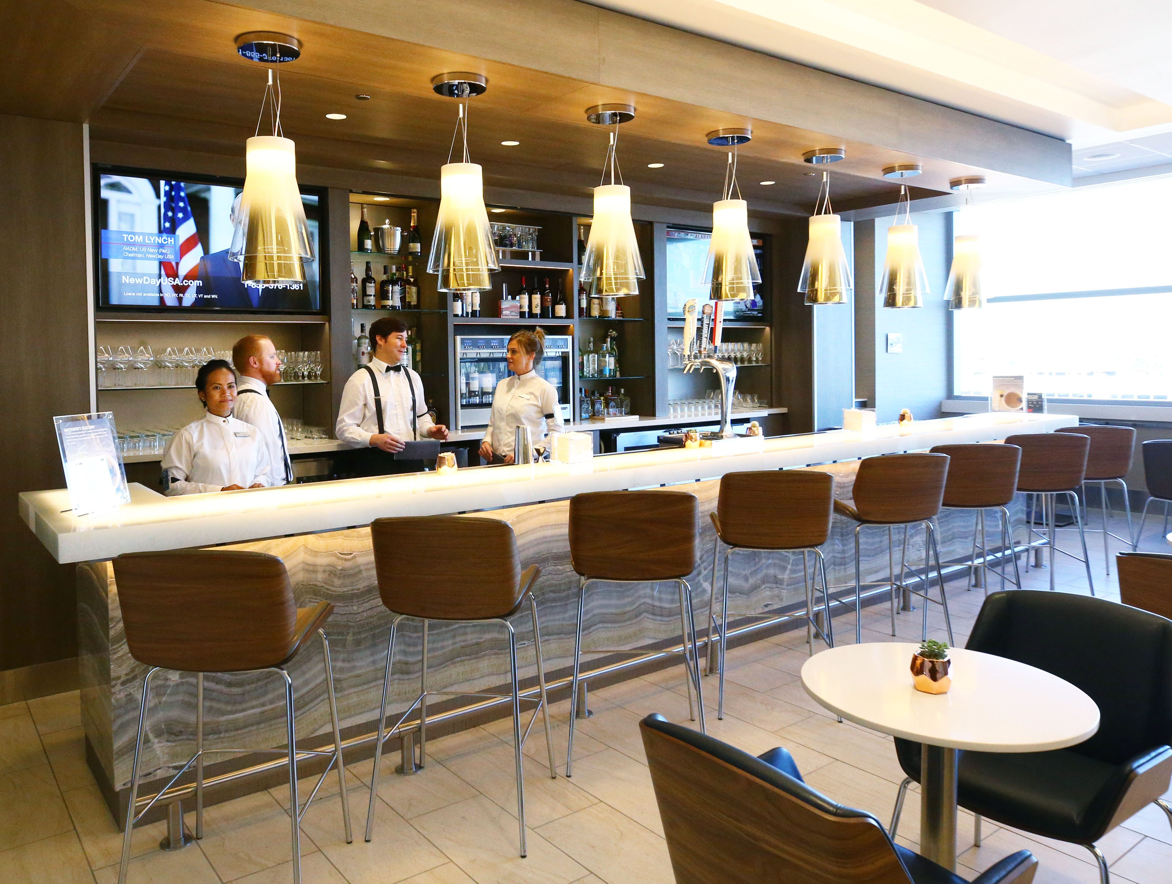 Delta Sky Club in the new John S. McCain III Terminal 3, South Concourse during opening ceremonies on Monday, Jan. 7, 2019 at Phoenix Sky Harbor International Airport.