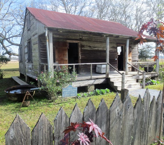 Slaves' quarters built in 1840 at the Laura Creole Plantation in Louisiana.