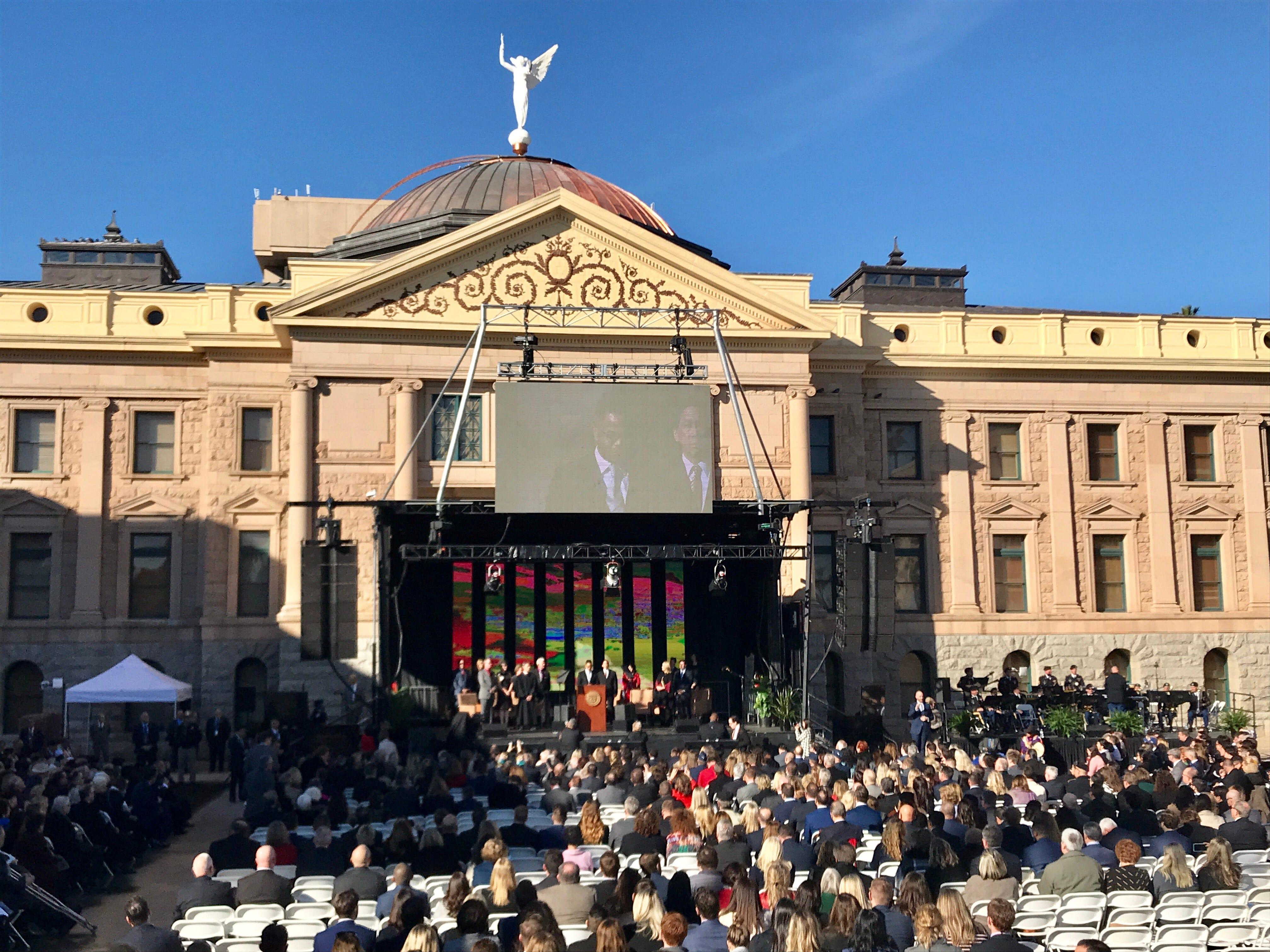 The inauguration ceremony at the Arizona Capitol in Phoenix, Jan. 7, 2019.