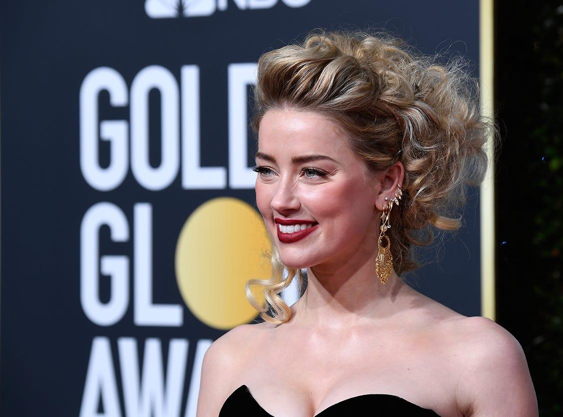Amber Heard asiste a la 76ª entrega anual de los Globos de Oro en el Beverly Hilton Hotel el 6 de enero de 2019 en Beverly Hills, California.