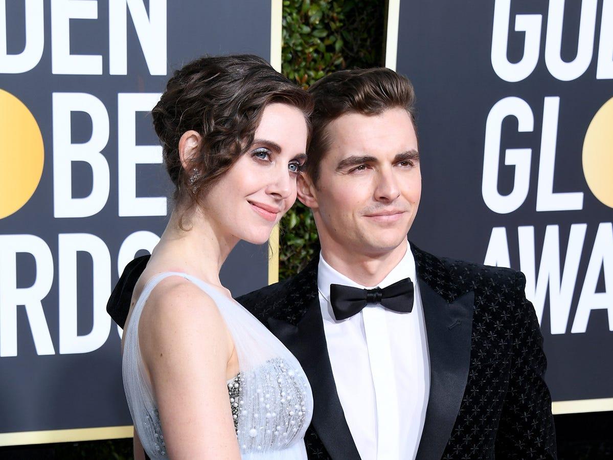 Alison Brie y Dave Franco asisten a la 76ª entrega anual de los Globos de Oro en el Beverly Hilton Hotel el 6 de enero de 2019 en Beverly Hills, California.