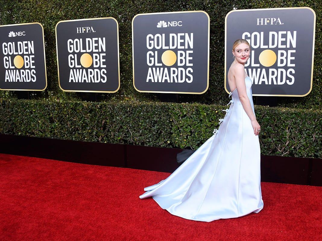 Dakota Fanning asiste a la 76ª entrega anual de los Globos de Oro en el Beverly Hilton Hotel el 6 de enero de 2019 en Beverly Hills, California.