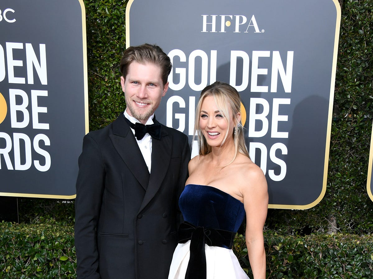 BEVERLY HILLS, CA - JANUARY 06:  Karl Cook and Kaley Cuoco attend the 76th Annual Golden Globe Awards at The Beverly Hilton Hotel on January 6, 2019 in Beverly Hills, California.  (Photo by Jon Kopaloff/Getty Images)