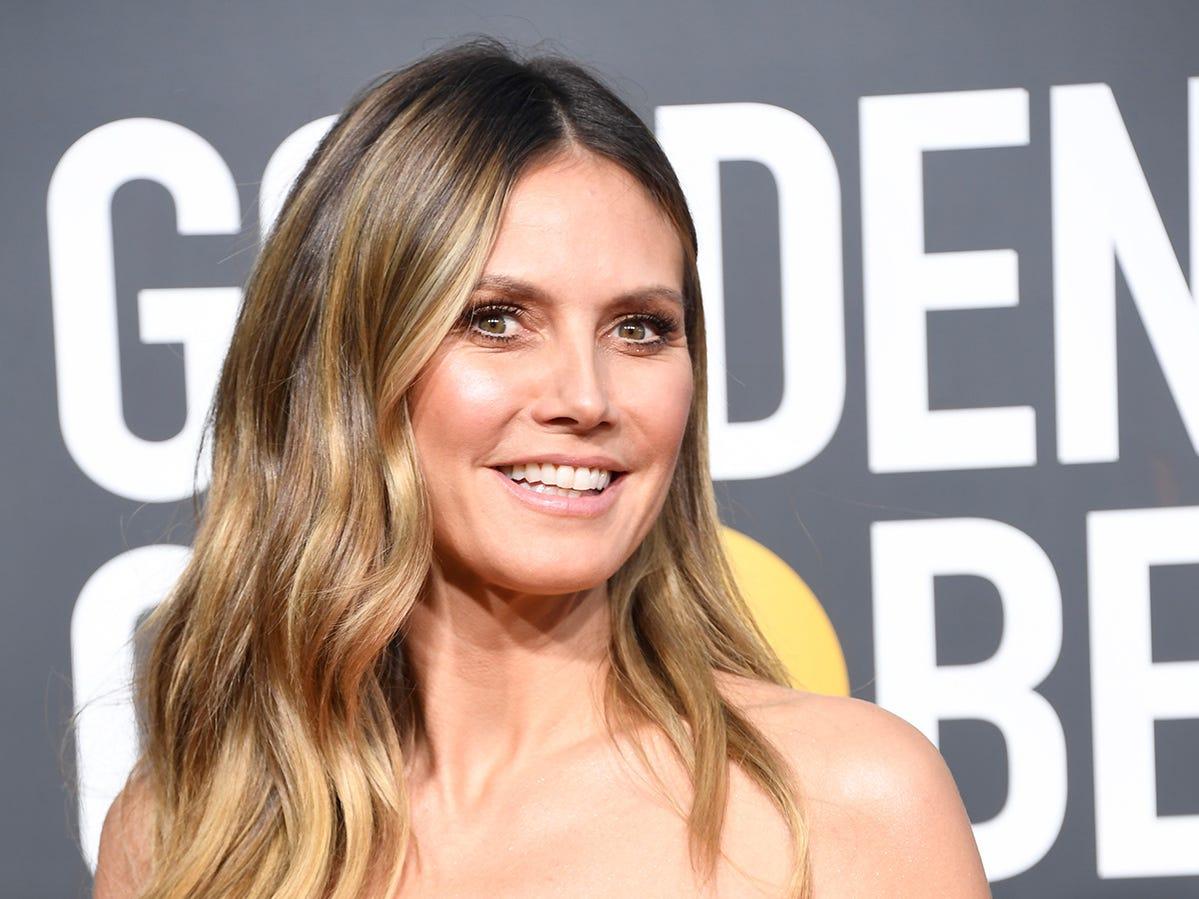 Heidi Klum asiste a la 76ª entrega anual de los Globos de Oro en el Beverly Hilton Hotel el 6 de enero de 2019 en Beverly Hills, California.