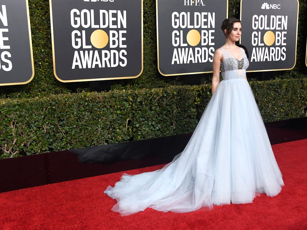 Alison Brie asiste a la 76ª entrega anual de los Globos de Oro en el Beverly Hilton Hotel el 6 de enero de 2019 en Beverly Hills, California.