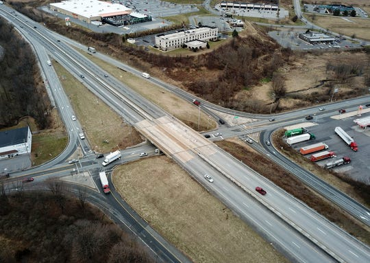 Kinsley Construction, from Monday, Jan. 13, to Tuesday, Jan. 14, will shift I-83 traffic to the upper ends of the recently opened ramps in the interstate's merge areas.