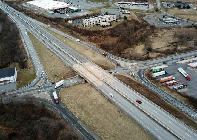 Interstate 83's exit 4 in Shrewsbury is shown on Jan. 7, 2019. John A. Pavoncello photo